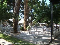 The Shaded Terrace In The Hotel Planas In Salou