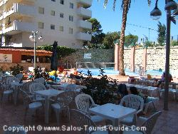The Pool And Terrace Area Of The Euro Hotel Salou