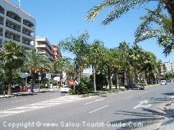 The Street Next To The Hotel H10 Salou Princess