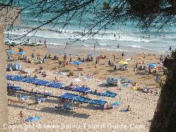 The Beach Of Capellans In Front Of The Hotel Salou Park